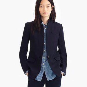 J. Crew | Navy Wool Flannel Regent Blazer | 00P